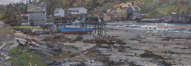 Blue Boat, The by  Daud Akhriev - Masterpiece Online