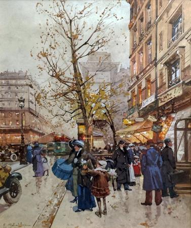 Porte St Denis by  E. Galien Laloue  - Masterpiece Online