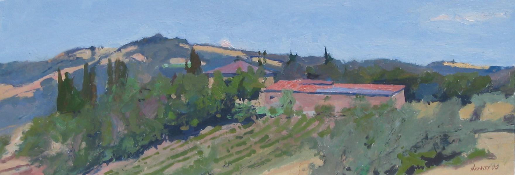 Farmhouse, Tuscany by  Daud Akhriev - Masterpiece Online