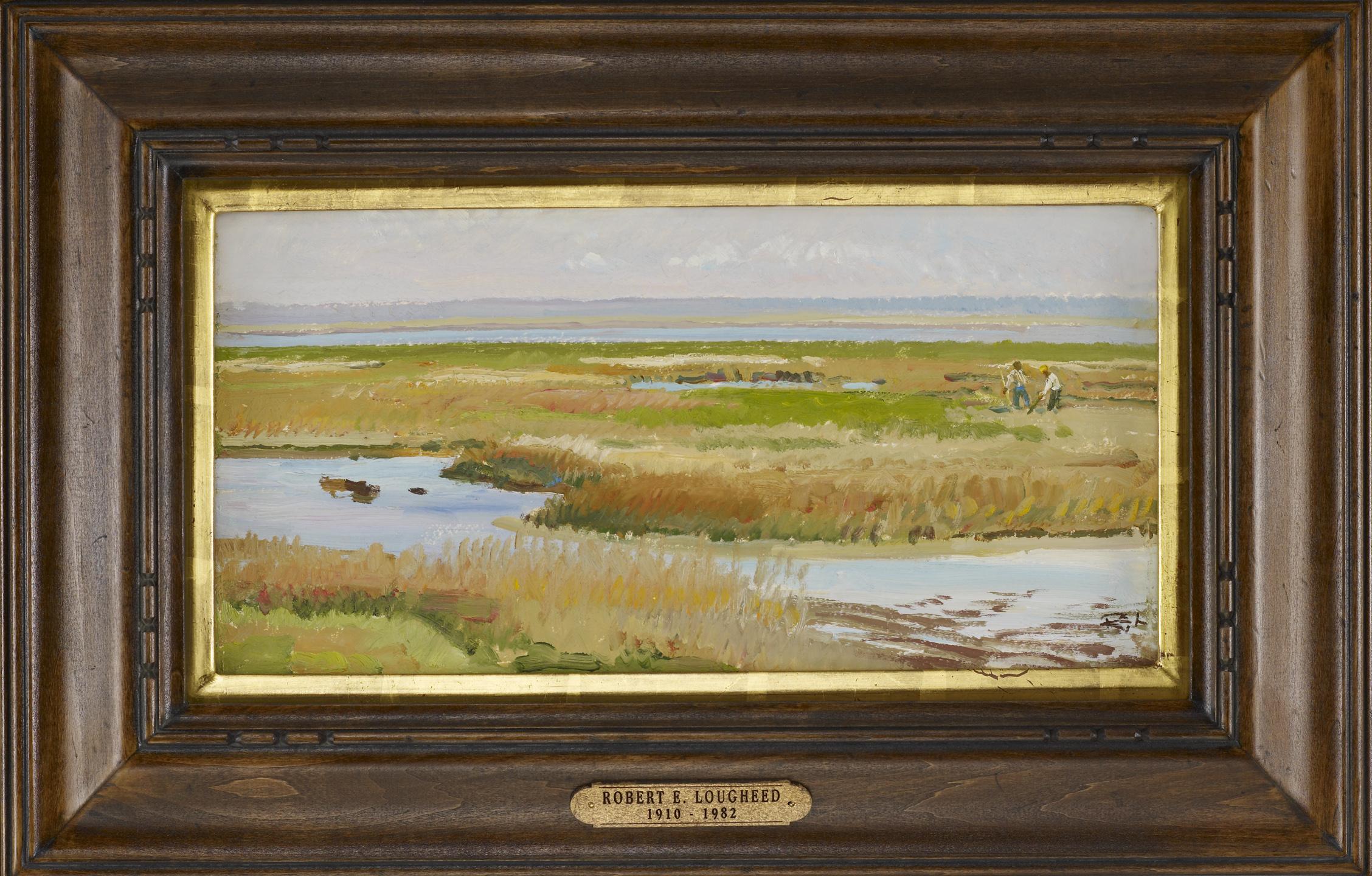 Digging Bait, Mayport... by  Robert Lougheed - Masterpiece Online