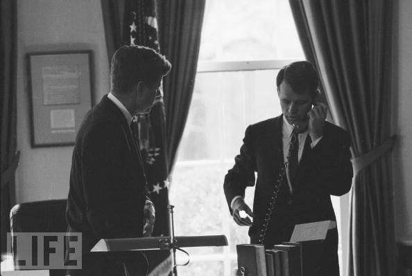 JFK and Bobby Kennedy...