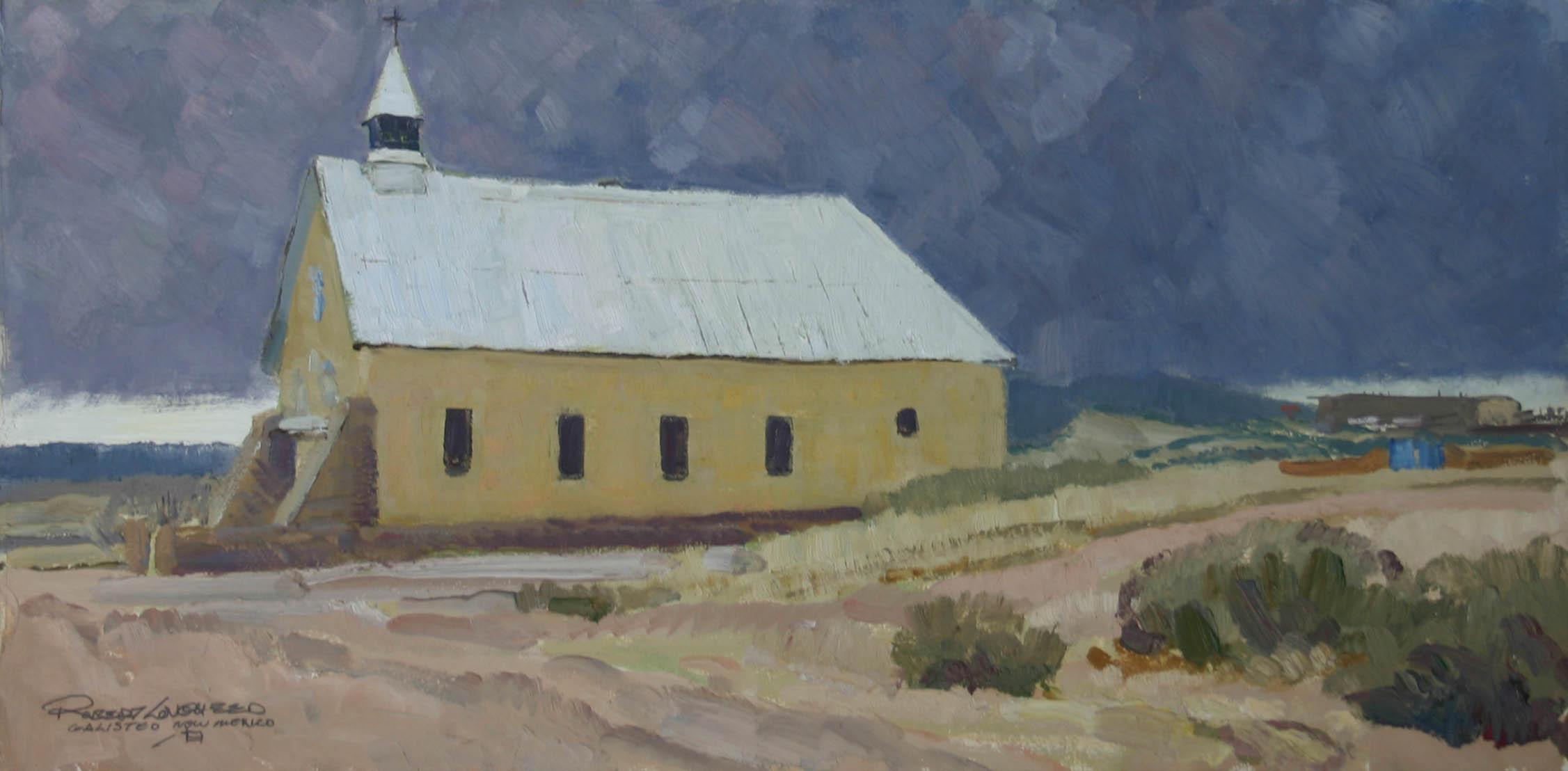 Galisteo Church by  Robert Lougheed - Masterpiece Online