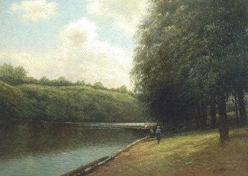Strolling by the Shore by  Alexander Popoff  - Masterpiece Online