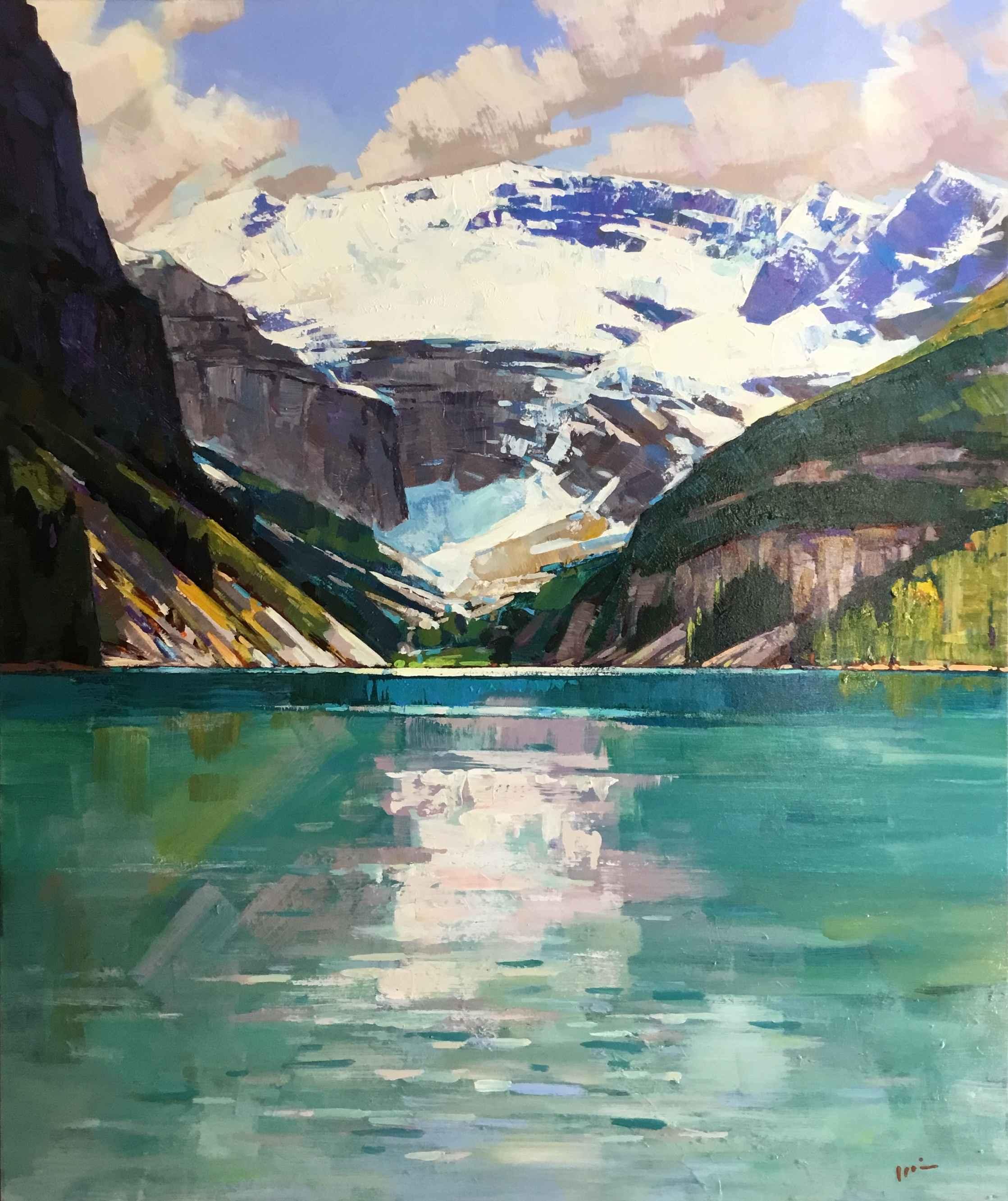 Blue Lake Louise by  Min Ma - Masterpiece Online