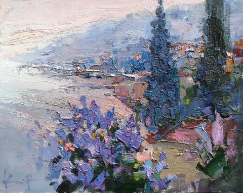 Lilac Evening by  Slava Korolenkov - Masterpiece Online
