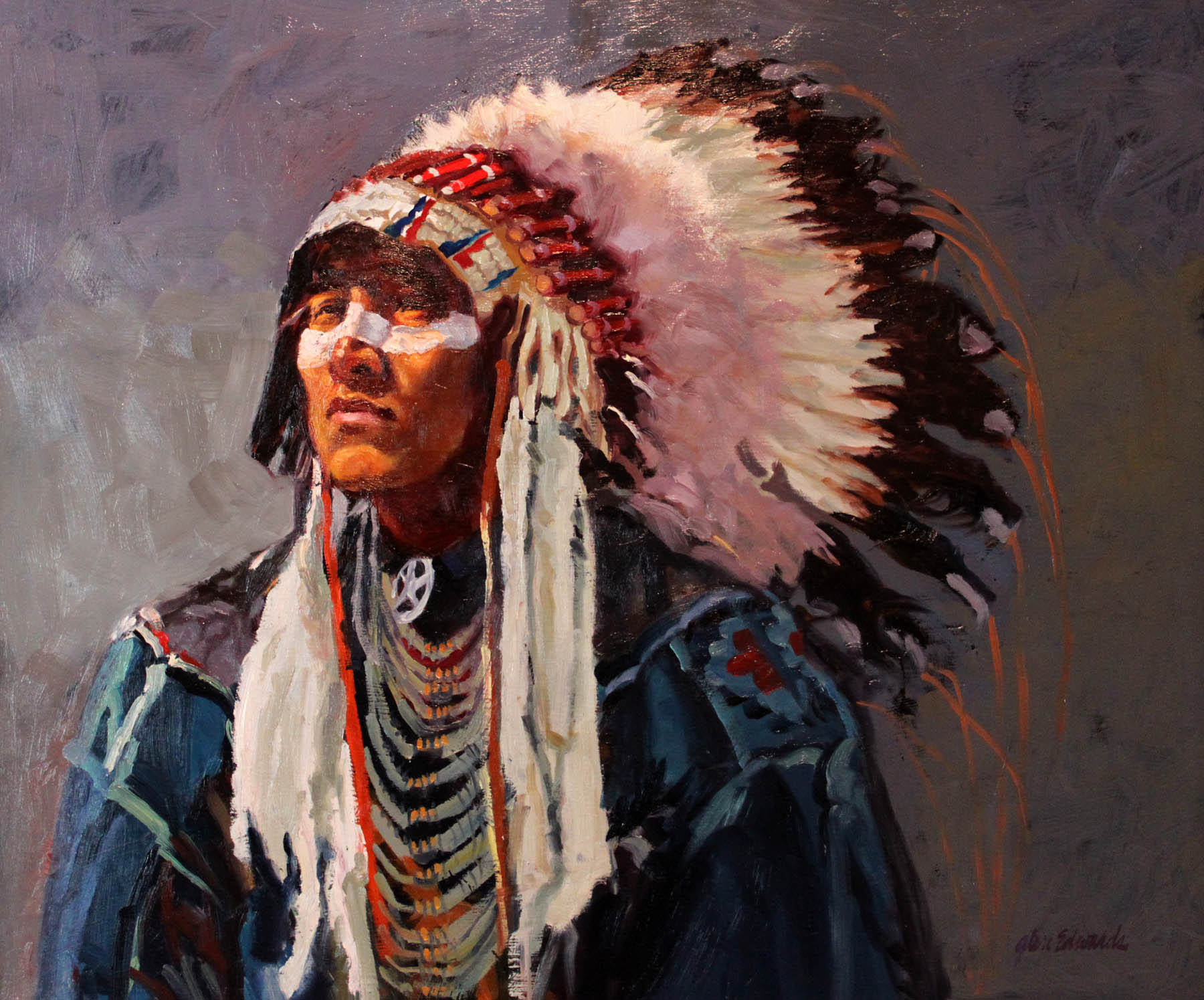 SOLD- Eagle Bonnet by  Glen Edwards - Masterpiece Online