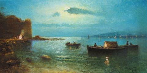 In the Bay by  Vladimir  Nasonov  - Masterpiece Online