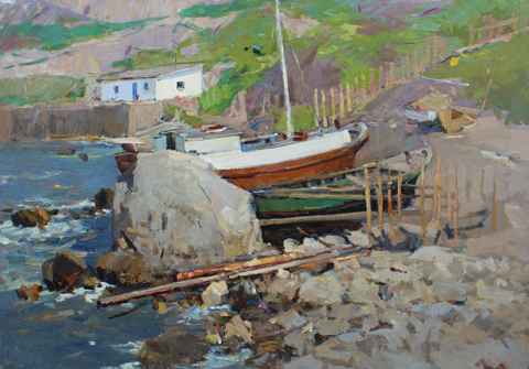 In Gursuf, 1962 by  Fedor Zakharov - Masterpiece Online