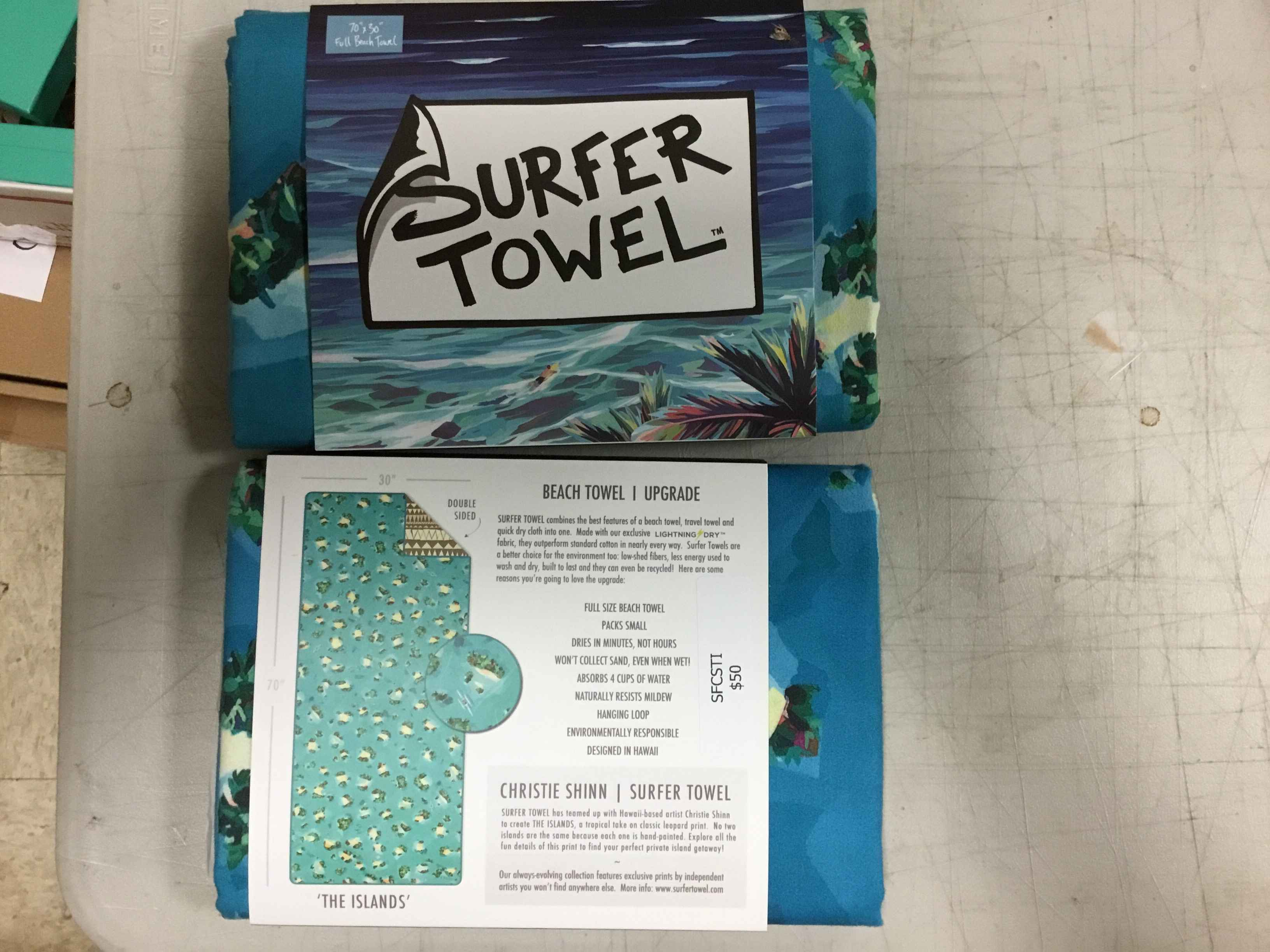 STCSTI Surfer Towel -... by  Christi Shinn - Masterpiece Online