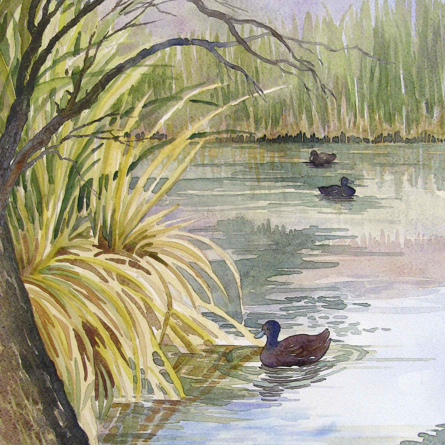 THREE AT AGUA CALIENTE by  Ellen Fountain - Masterpiece Online