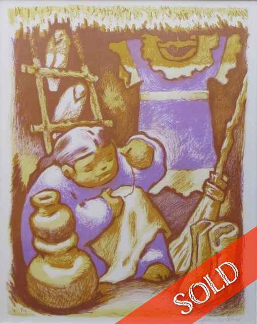 Little Seamstress by  Jean Charlot (1898-1979) - Masterpiece Online