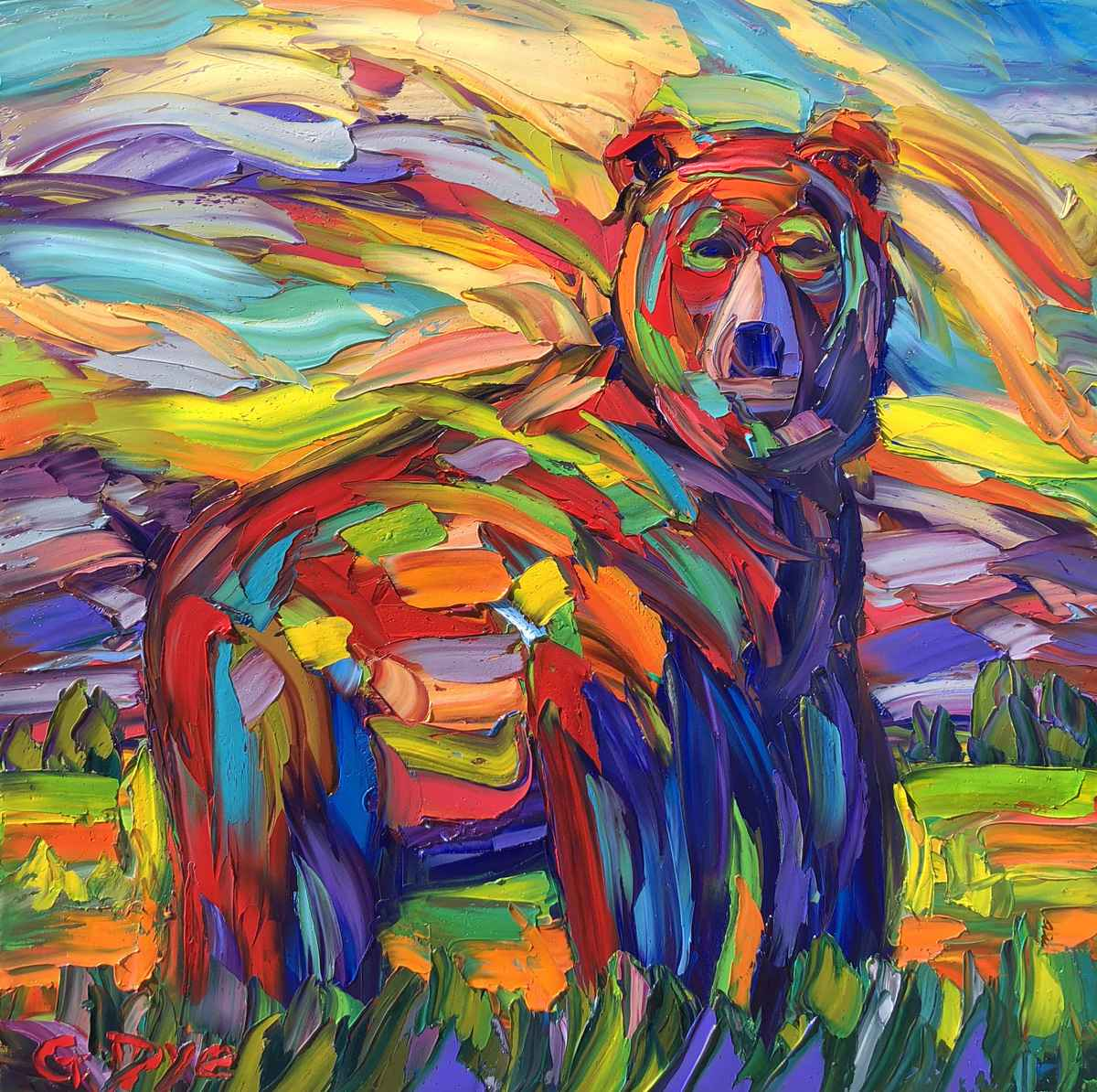 Red Bear Rules by  Greg Dye - Masterpiece Online