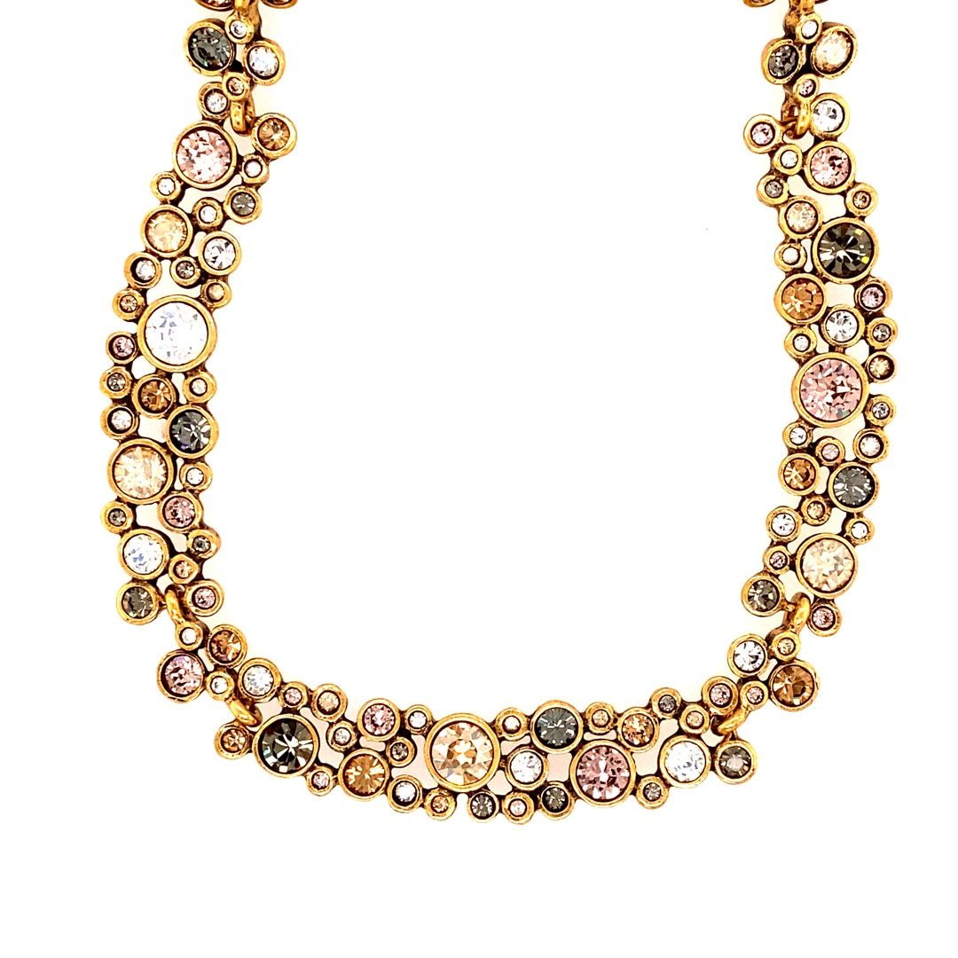 Vivacious Necklace in Gold, Champagne