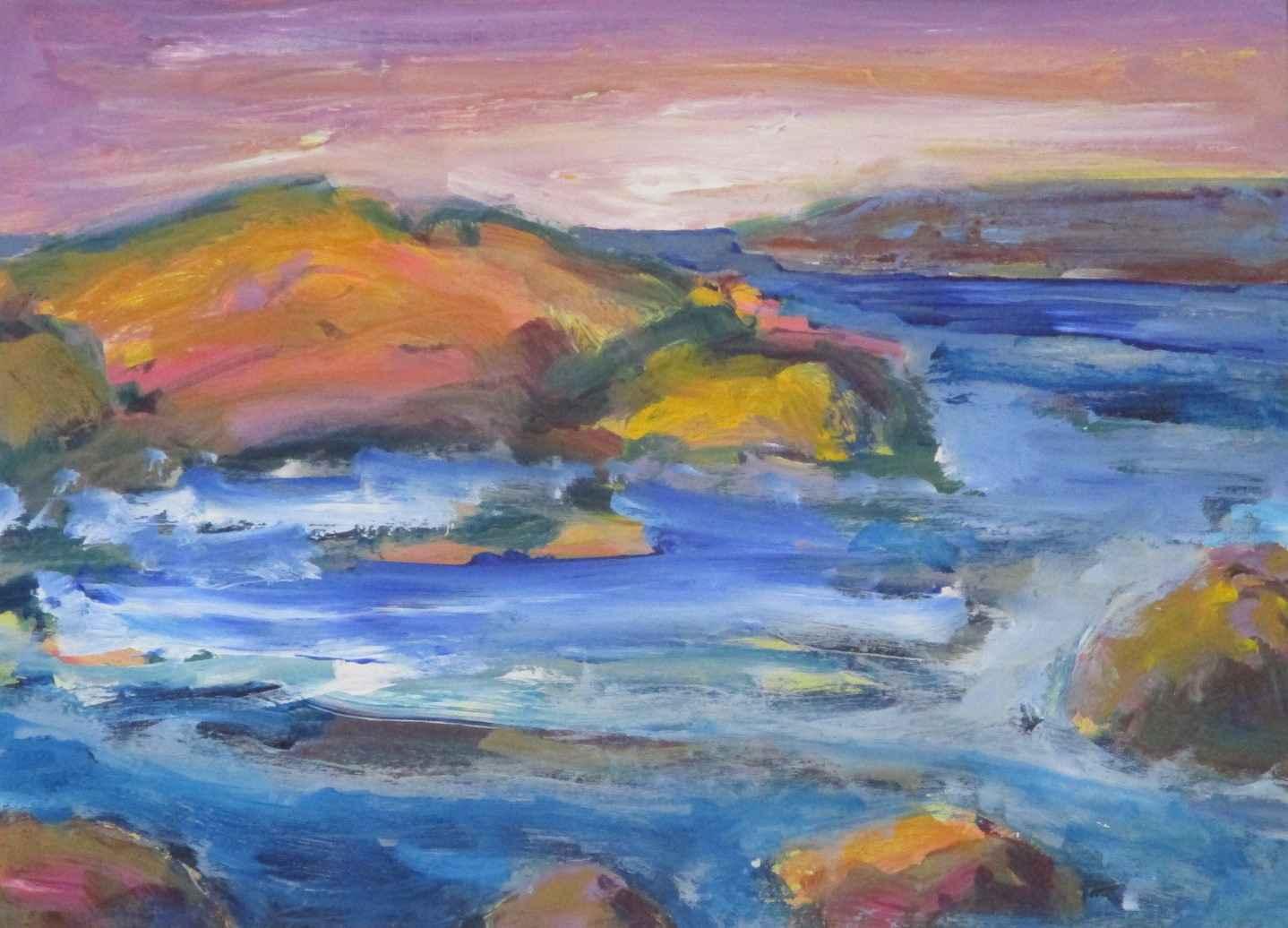 Waterscape II Rocks by  Janet Holt - Masterpiece Online