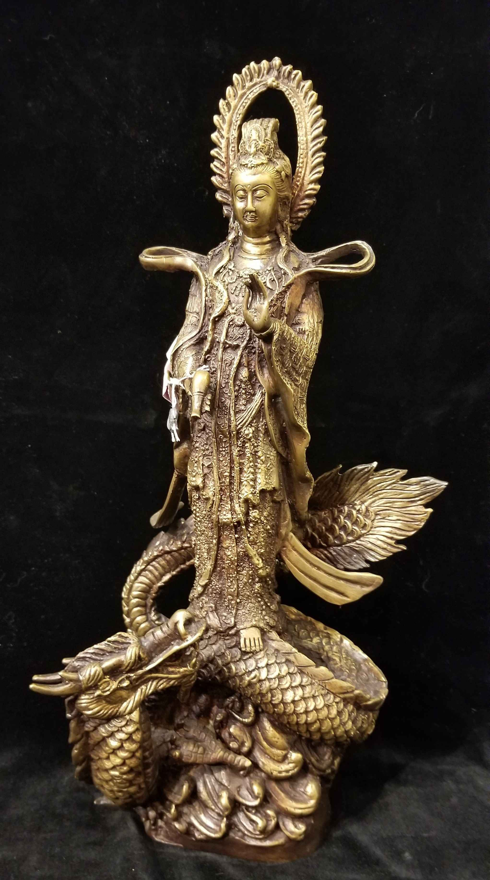 Kuan Yin Standing on ... by  Gallery Pieces - Masterpiece Online