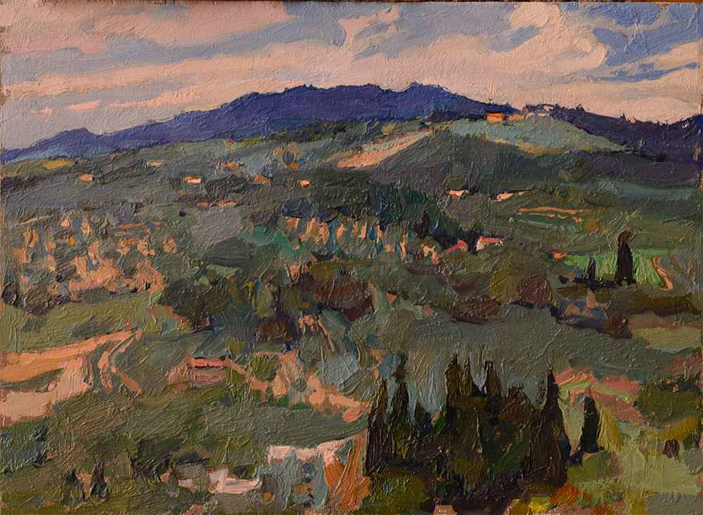 Fields of Montereggi by  Daud Akhriev - Masterpiece Online