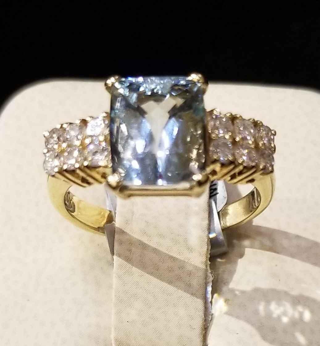 Aquamarine Ring - YG by  My Jeweler - Masterpiece Online