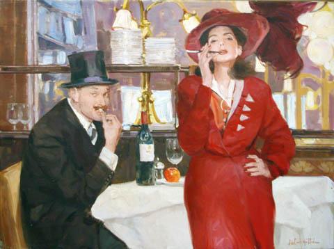 Cafe Society by  Leon Zeytline - Masterpiece Online