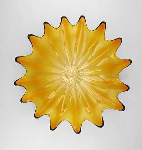 Wall Platter/Amber by  Cliff Goodman - Masterpiece Online