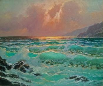 Sunset Breakers, Garr... by  A Dzigurski II - Masterpiece Online