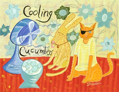 Cooling Cucumbers  by  Sarajo Frieden