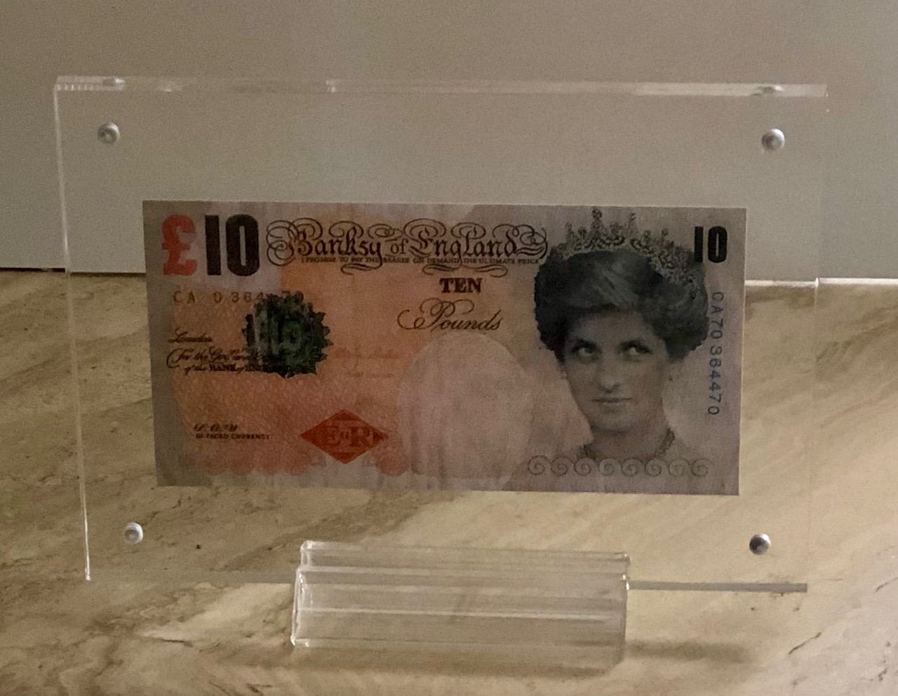 Di Faced Tenner by   Banksy - Masterpiece Online