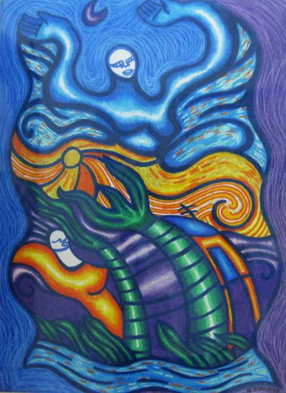 Egyptian Sky Goddess by  Nicole Craig - Masterpiece Online