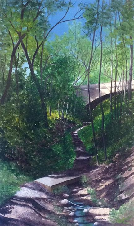 Lake Park Ravine III by  Susan Baehmann - Masterpiece Online