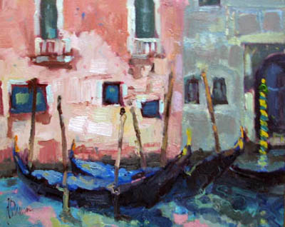 Gondolas by  Lindy  Duncan - Masterpiece Online