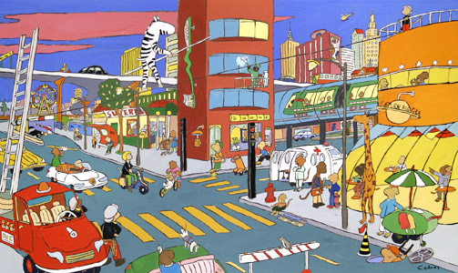 New York by  Gilles Eduar - Masterpiece Online