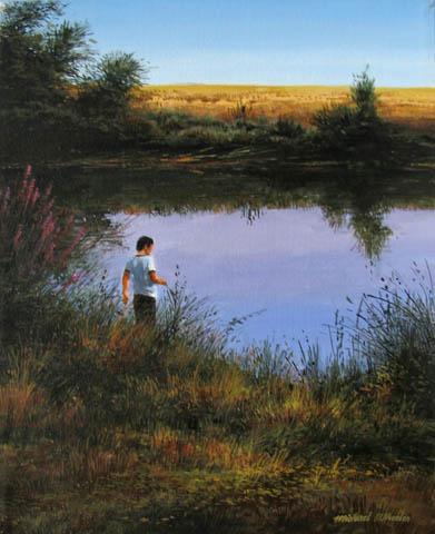Exploring Pond's Edge by  Michael Wheeler - Masterpiece Online
