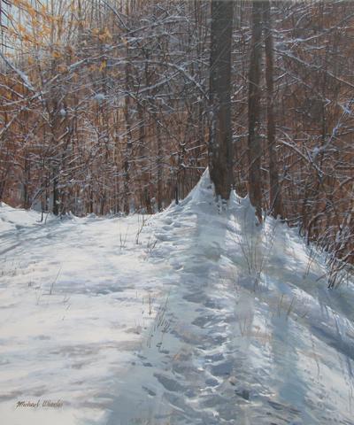 Forest Path - Deep Sn... by  Michael Wheeler - Masterpiece Online