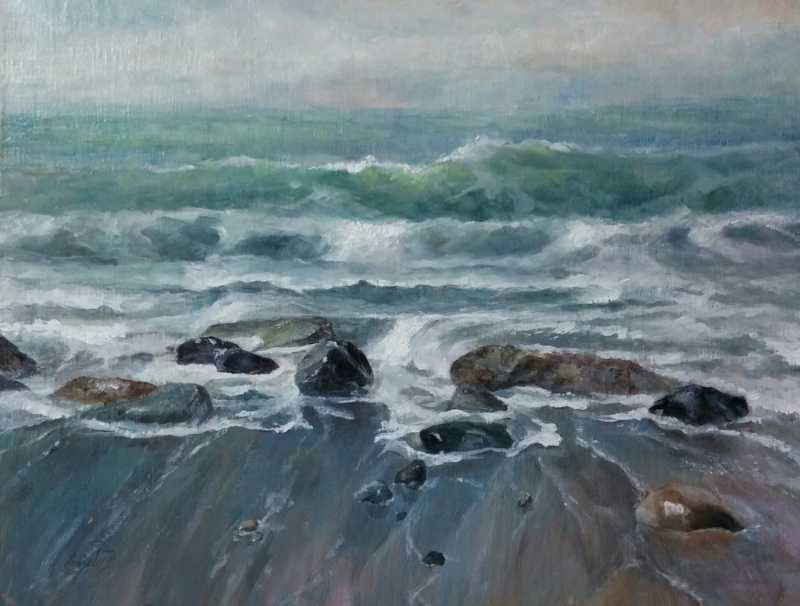 Rushing Tide by  Sandy Byers - Masterpiece Online