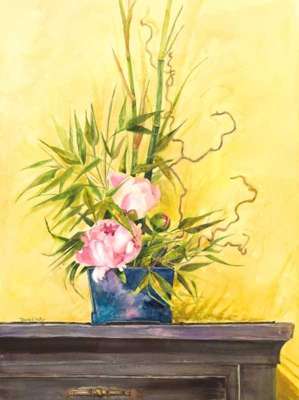 Ikebana Peonies by Mrs Teresa Vatter - Masterpiece Online