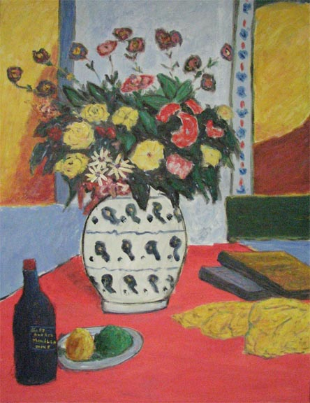 Bouquet with Red table by  Andres  Morillo - Masterpiece Online