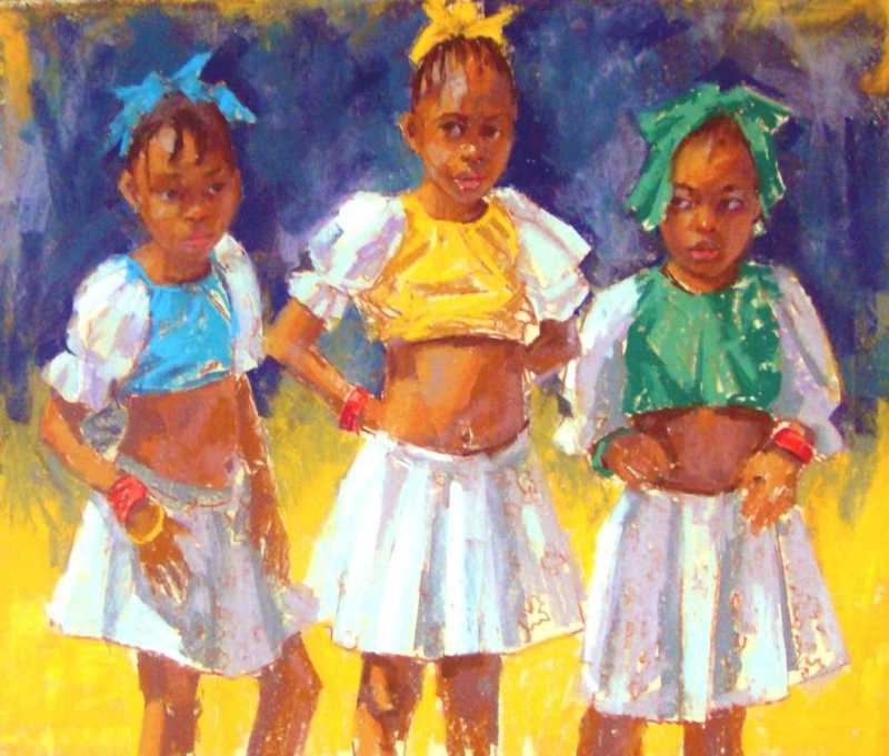 Three Little Girls by Mrs. Vishni Gopwani - Masterpiece Online