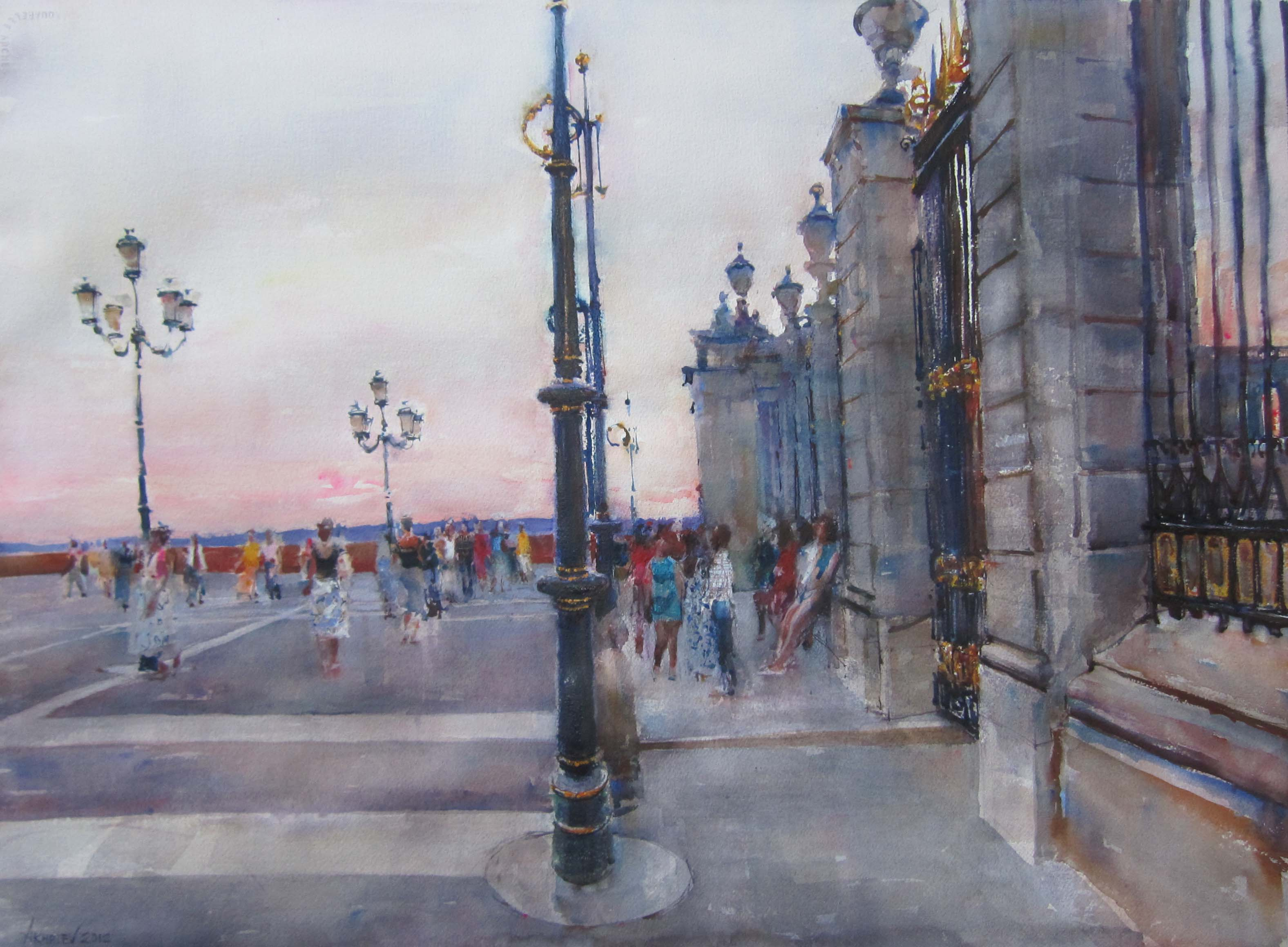 Palace Square by  Daud Akhriev - Masterpiece Online