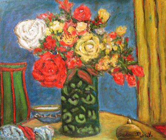 Flowers with Vase by  Andres  Morillo - Masterpiece Online