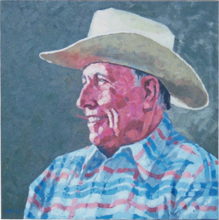 Portrait of Ray Hunt by  Melissa Hefferlin - Masterpiece Online