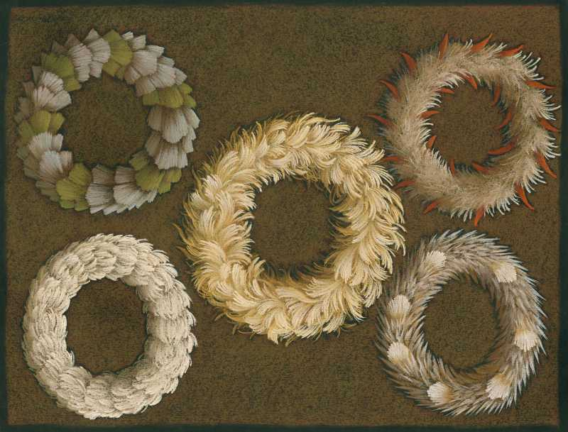 5 Feather Leis by  Shelley S. M. Miller - Masterpiece Online