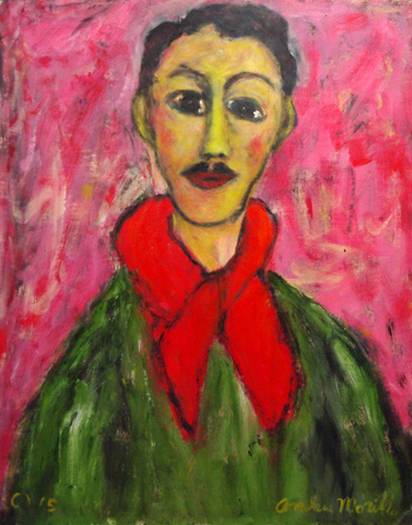 Man with Red Scarf  by  Andres  Morillo