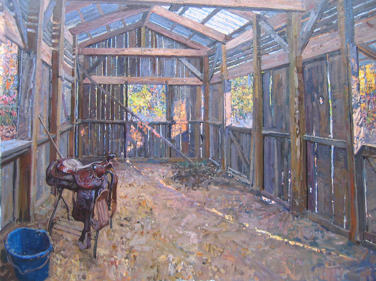 In Melissa's Barn by  Daud Akhriev - Masterpiece Online
