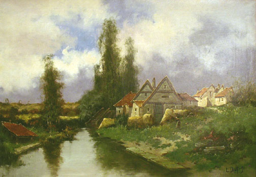 Chaumieres a Quintin by  E. Galien Laloue  - Masterpiece Online