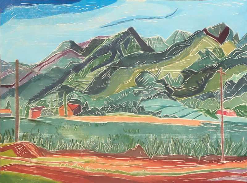 Mountains To Sky by  Aline Feldman - Masterpiece Online