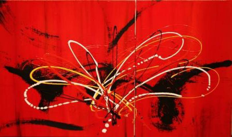 Pensées rouges by Mme Monica GRANGIER - Masterpiece Online