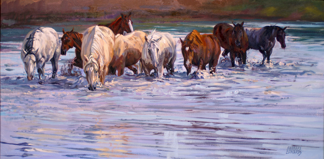 SOLD- A Thirsty Bunc... by  Barbara Summers Edwards - Masterpiece Online