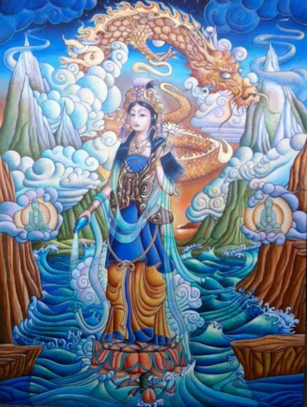 Quan Yin New Dawn by  Matthew Smith - Masterpiece Online