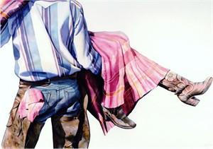 Gal Rustlin' by  Nelson Boren - Masterpiece Online