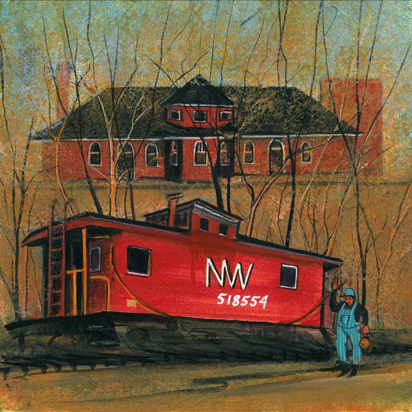 DP-Warrenton Train De... by  P. Buckley Moss  - Masterpiece Online