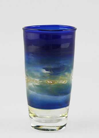 Cobalt Shot Glass W/S... by  Bronwen Heilman - Masterpiece Online